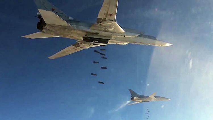 Seis bombarderos rusos atacan las posiciones del Estado Islámico en Siria