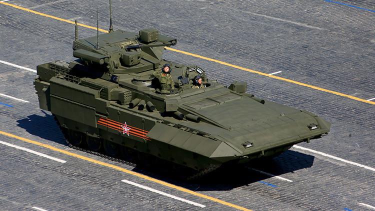 Fotos: Aparecen las primeras imágenes del sistema de protección táctica de los blindados T-15 Armata