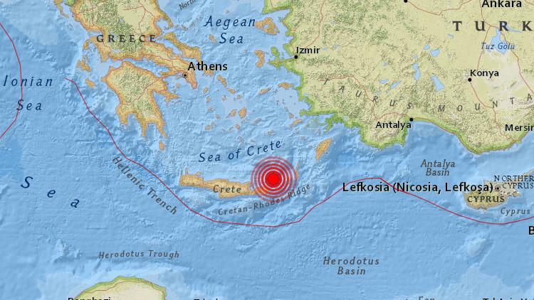 Un terremoto de magnitud 5,2 sacude Grecia