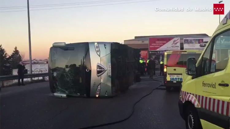 """La madre del conductor del autobús que volcó en Madrid: """"Tomó cocaína el viernes, como cualquiera"""""""