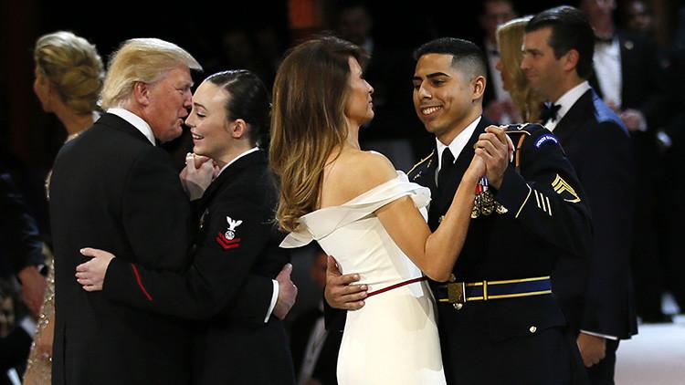 """""""Trataba de conocerme"""": El sargento latino que bailó con Melania Trump revela curiosos detalles"""