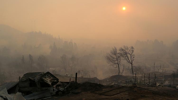 La NASA difunde imágenes satelitales de los incendios en Chile