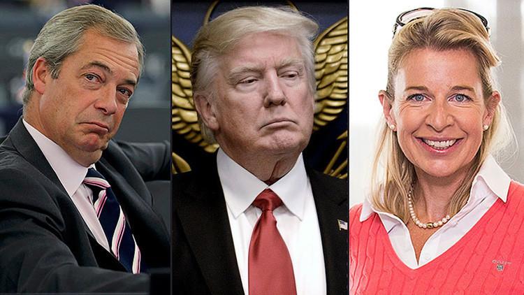 Apoyos en el Reino Unido: Nigel Farage y Katie Hopkins respaldan a la medida antimigratoria de Trump