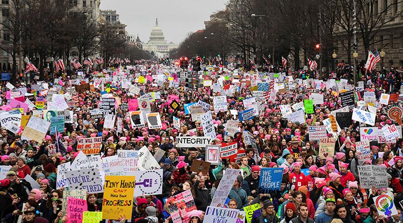 Resultado de imagen para Marcha de mujeres a Washington