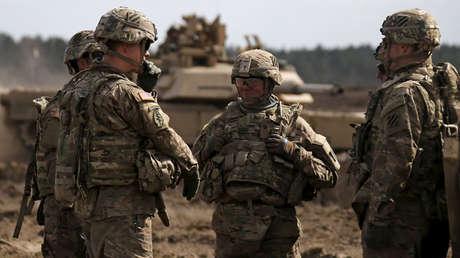 Soldados y tanques de EE.UU. en Polonia, en 2015