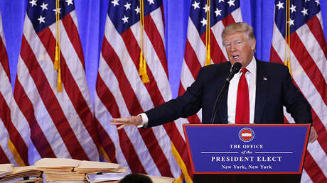 El presidente electo de EE.UU., Donald Trump, Nueva York, EE.UU., 11 de enero de 2017