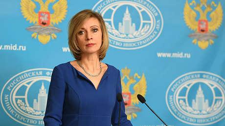 La portavoz del Ministerio de Exteriores de Rusia, María Zajárova.