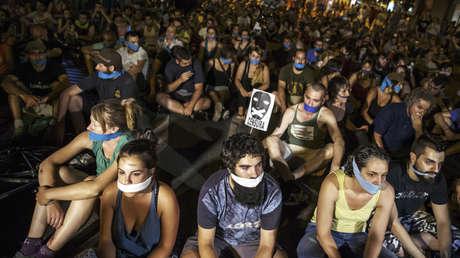 Manifestación en España contra la Ley Mordaza / 1 de julio de 2015