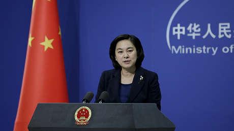 La portavoz del Ministerio de Relaciones Exteriores, Hua Chunying, habla durante una rueda de prensa en Pekín. 6 de enero de 2016.