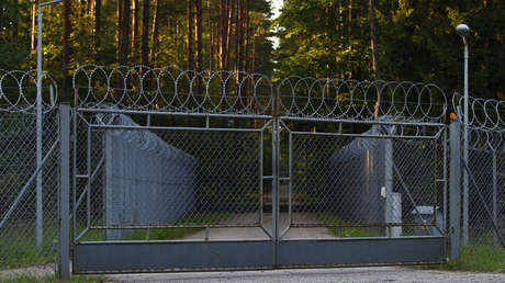Una instalación militar en una zona boscosa cerca de Szczytno, nordeste de Polonia