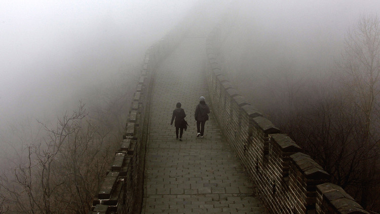 ¿Qué le pasa a la Muralla China? Los internautas tratan de descifrar esta fotografía