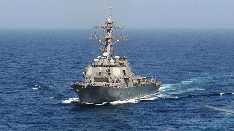 El destructor estadounidense USS Porter entra en aguas del mar Negro