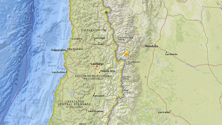 Un sismo de 5,4 sacude Argentina cerca de la frontera con Chile