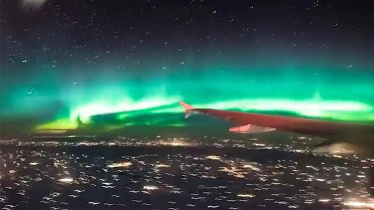Impresionantes imágenes de la aurora boreal a más de 10 kilómetros de altura