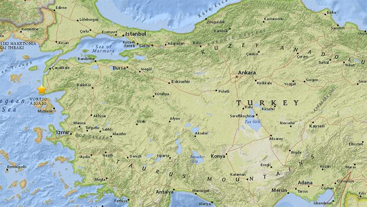 Un sismo de magnitud 5,2 sacude la costa oeste de Turquía