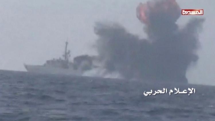 VIDEO: Un submarino suicida explota contra una fragata de Arabia Saudita