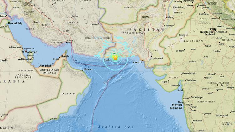 Un sismo de magnitud 6,3 sacude el sur de Pakistán