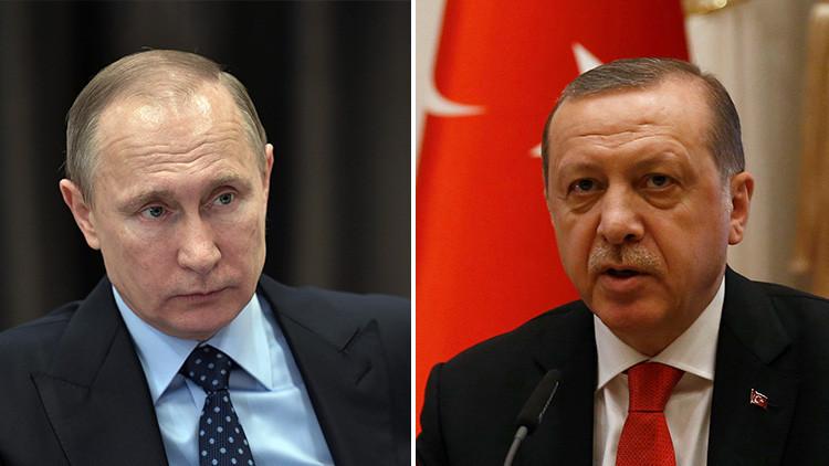 Putin expresa a Erdogan condolencias por la muerte no intencionada de militares turcos en bombardeo