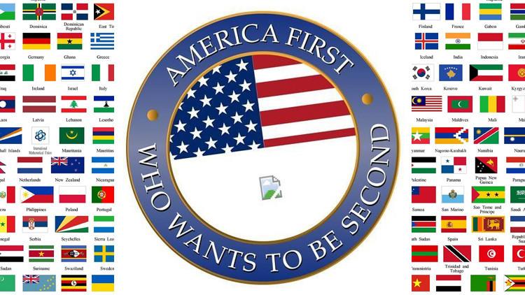 ¿'America first'?: Así trolean a Trump con su propio lema en distintos países de Europa