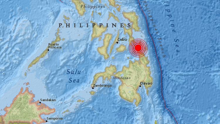 Un sismo de magnitud 6,7 sacude Filipinas