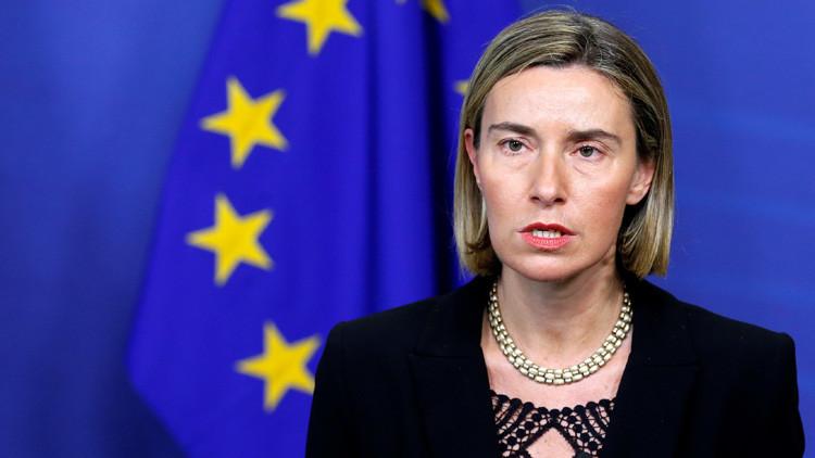 """Federica Mogherini exige a EE.UU. que """"no interfiera"""" en la política europea"""