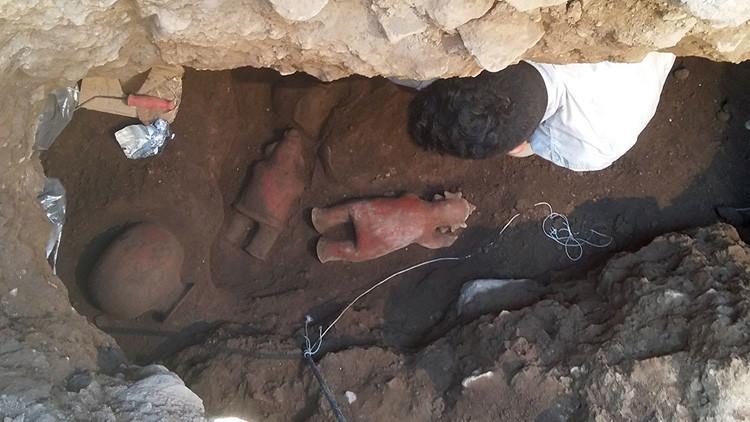Hallan en México una tumba prehispánica intacta de 1.700 años de antigüedad (FOTOS)