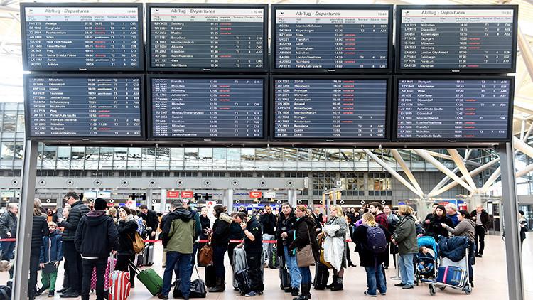 Al menos 50 afectados en el aeropuerto de Hamburgo por la fuga de una sustancia desconocida