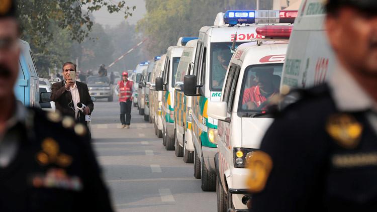 Fuerte explosión en una manifestación en Pakistán