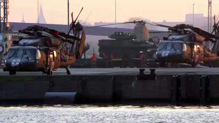 VIDEO: Helicópteros militares de EE.UU. llegan a Alemania