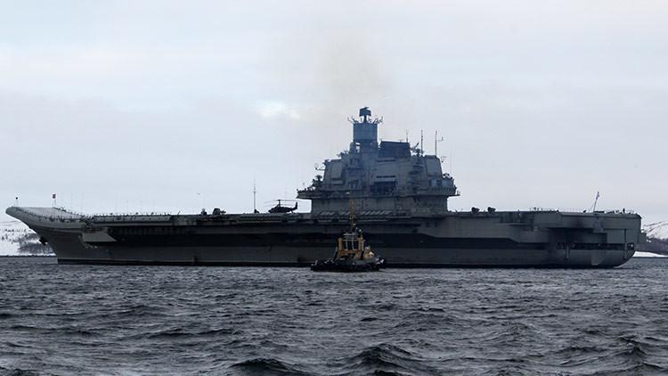 Más de 50 buques de guerra de la OTAN escoltaron al portaaviones ruso Admiral Kuznetsov
