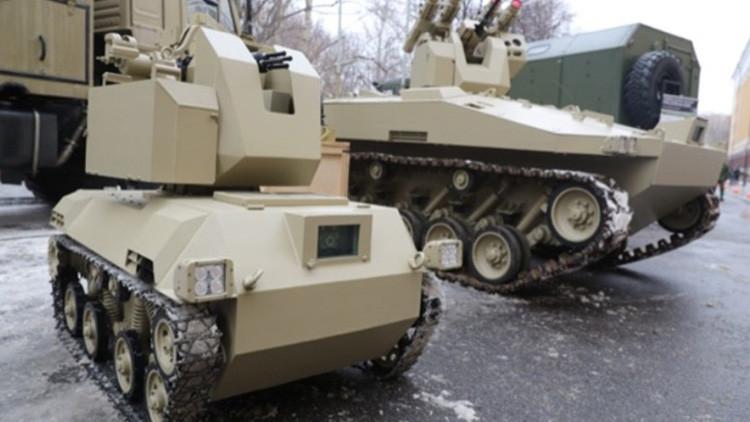 El consorcio Kaláshnikov muestra por primera vez un robot secreto de combate del Ejército ruso