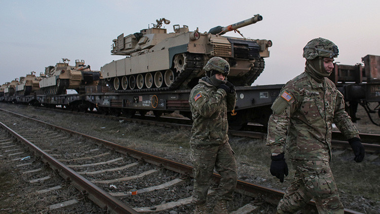 VIDEO: Tanques de EE.UU. llegan a Rumanía para una misión que durará 9 meses