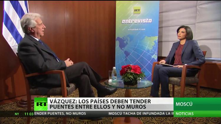 """Vázquez: """"Uruguay busca afianzar sus buenas relaciones con Rusia"""""""