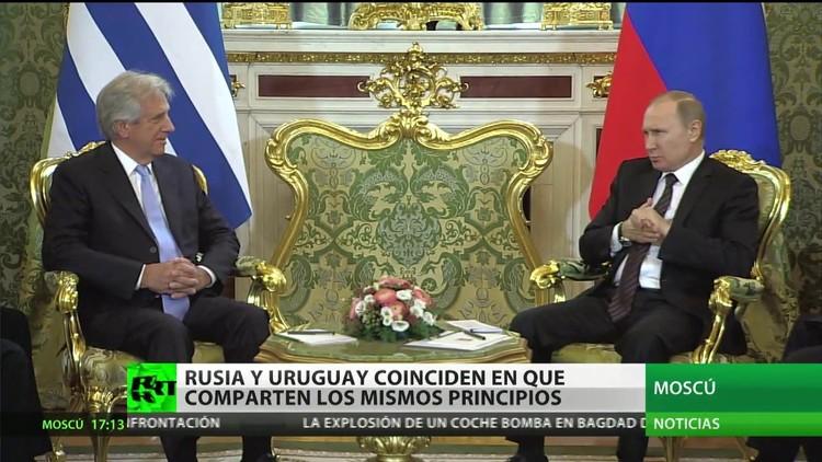 Los líderes de Rusia y Uruguay afirman compartir los mismos principios