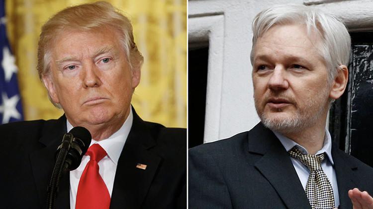 """""""Nunca hay que disculparse por la verdad"""": Assange desafía posturade Trump contra noticias falsas"""