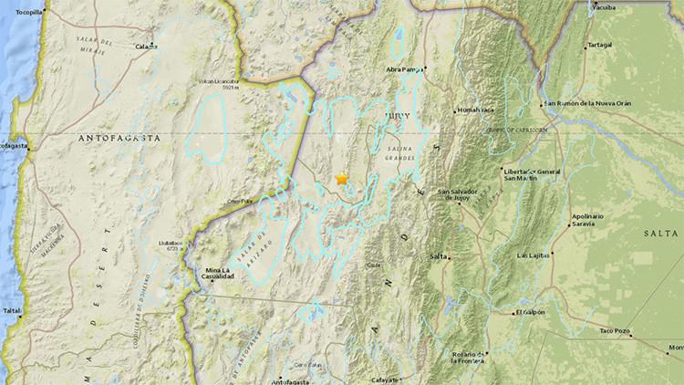 Un terremoto de magnitud 6,3 sacude Argentina