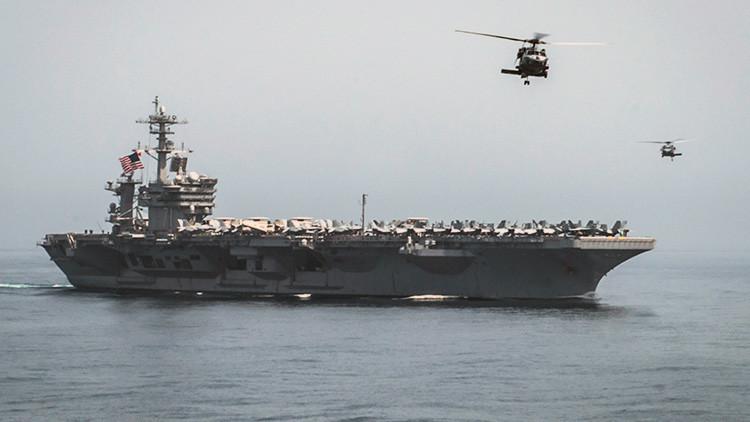 EE.UU. despliega un portaaviones y su grupo de ataque en el mar de la China Meridional