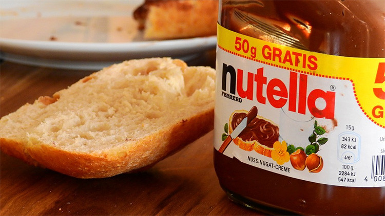 Esta imagen del contenido de Nutella podría llevarle a replantearse su consumo