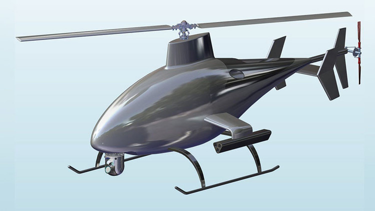 Un helicóptero no tripulado 'invisible' para los radares se deja ver en IDEX-2017 (VIDEO)