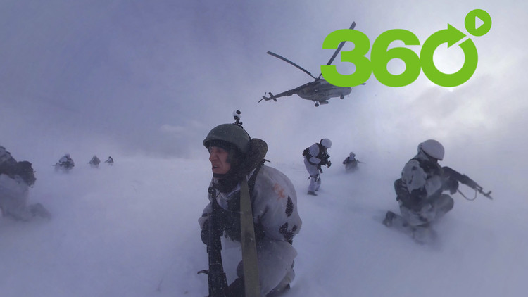 Juegos de guerra en 360°: Las fuerzas de élite rusas muestran el asalto a una unidad blindada