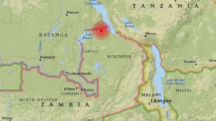 Un terremoto de magnitud 5,7 sacude Zambia