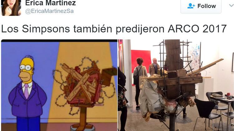El arte de Homero se pasea por Madrid: ¿Una nueva premonición de los Simpsons? (FOTOS)