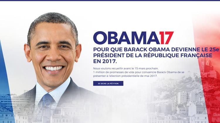 Proponen que Obama se postule como candidato a presidente de Francia