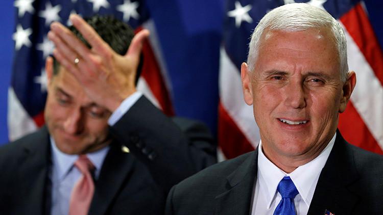 El vicepresidente de EE.UU., Mike Pence, confunde las banderas de Israel y de Nicaragua