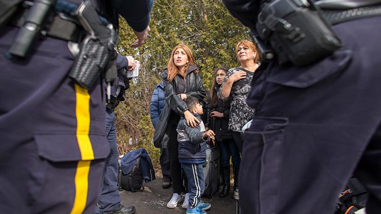 Migración a la desesperada: Refugiados cruzan zonas deshabitadas para escapar de Trump a Canadá