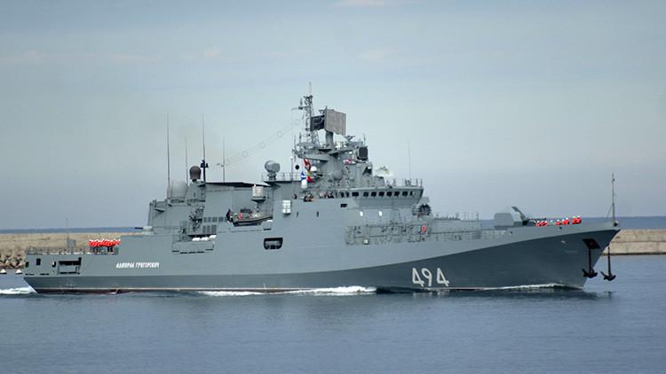 La fragata rusa Admiral Grigoróvich se dirige hacia la costa siria (VIDEO)