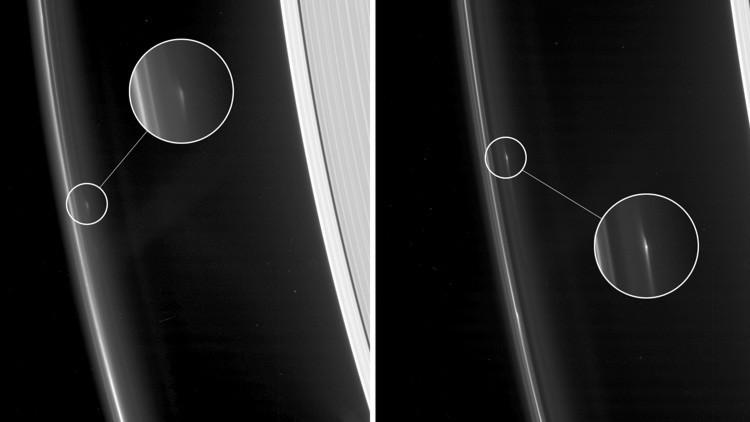 Fotos: La NASA capta objetos extraños 'rondando' un anillo de Saturno