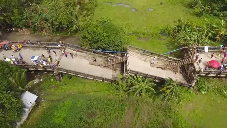 Tierra agrietada: video muestra la devastación provocada por un sismo en Filipinas a vista de dron