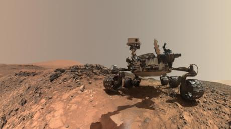 Imagen del Curiosity en Marte