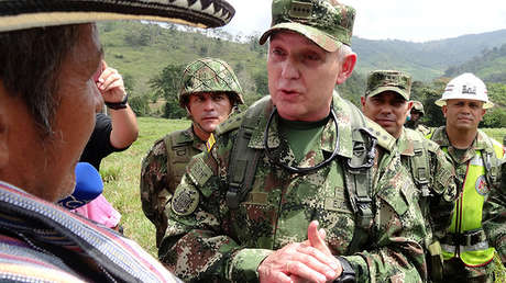 Alberto Mejía, comandante del Ejército Nacional colombiano, en una zona ocupada anteriormente por las FARC, en Saiza, Colombia, 3 de febrero de 2017